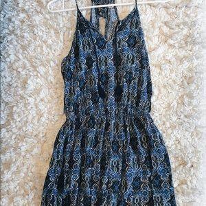 Hollis yet blue patterned romper